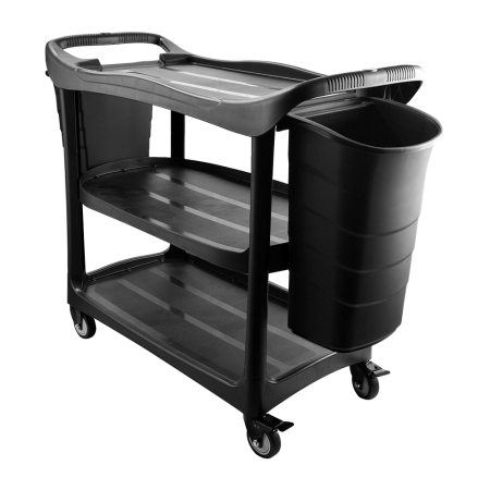 3 tier Utilities Cart Trolley cw Bucket