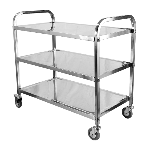 Stainless Steel 3 Tiers Trolley