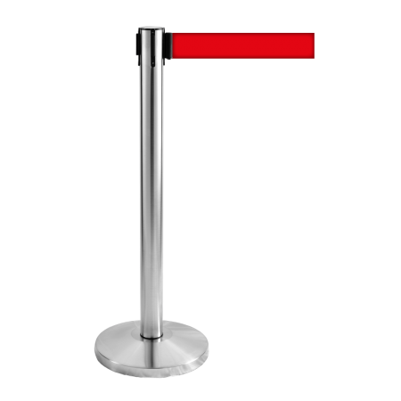 Stainless Steel Self Retractable Belt Q Up Stand2
