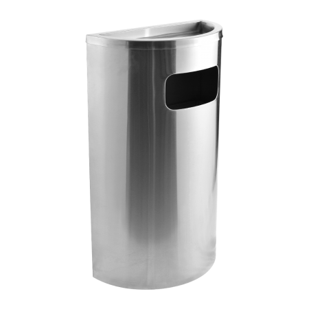 Stainless Steel Semi Round Bin Ashtray Top(SRB - 038-A)