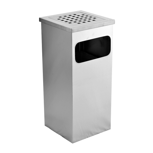 Stainless Steel Square Ashtray Bin(SQB-004-SS)